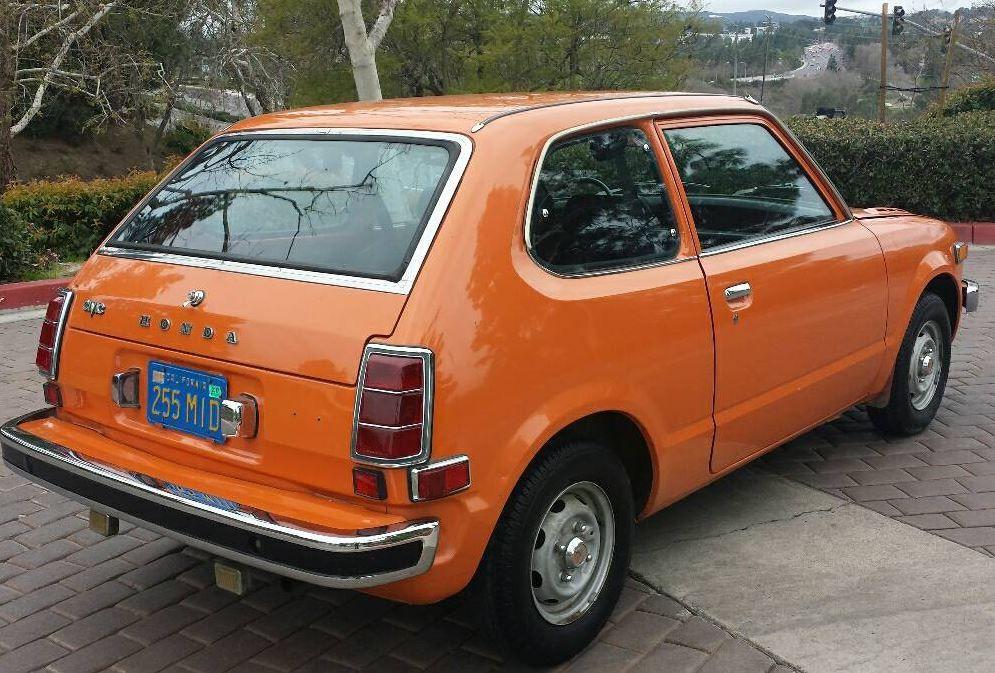 Orange 4 Speed First Gen 1974 Honda Civic Honda Civic Honda Civic