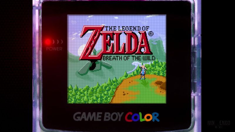 Breath Of The Wild Looks Rad As A Game Boy Color Game Breath Of