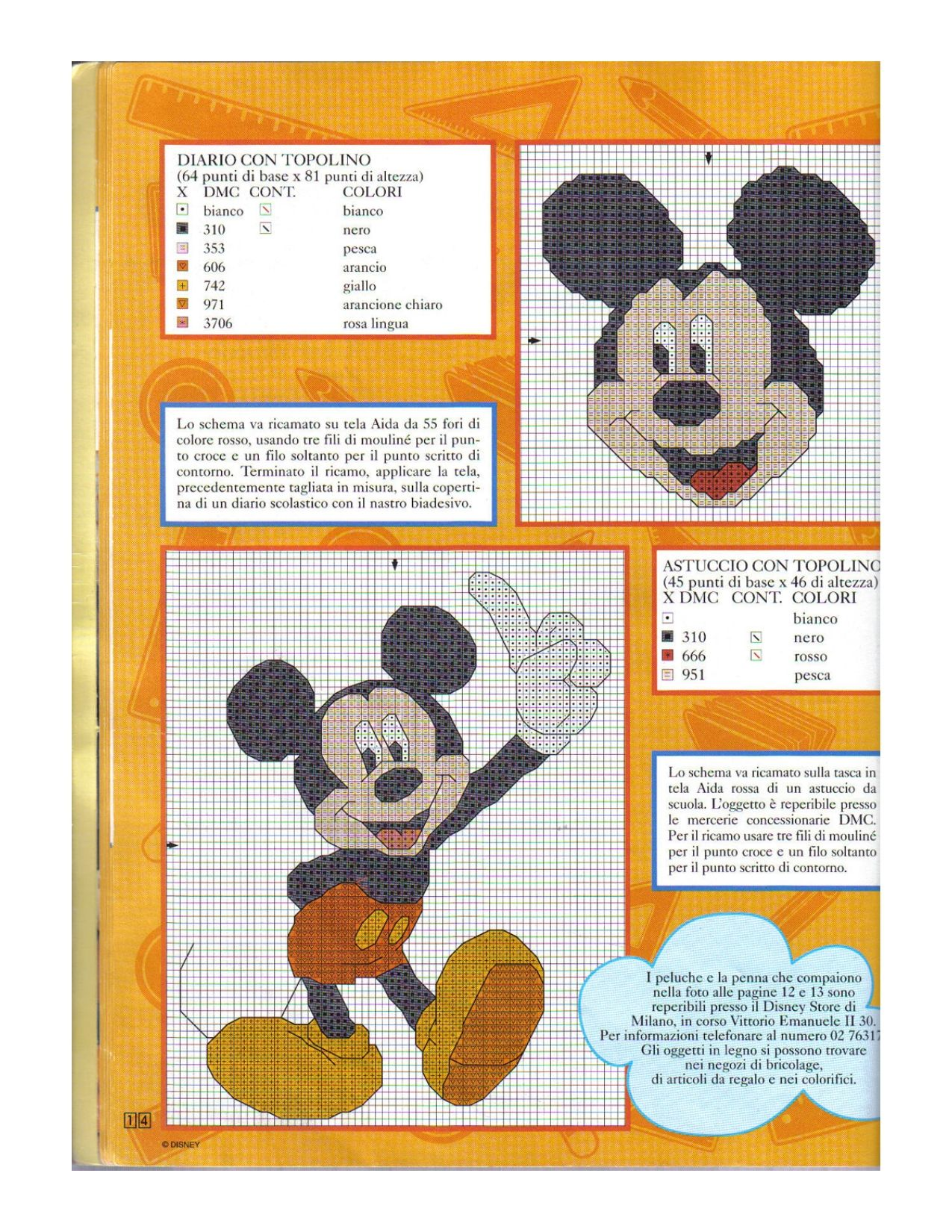 Mickey Mouse   Cross Stitch Patterns   Pinterest