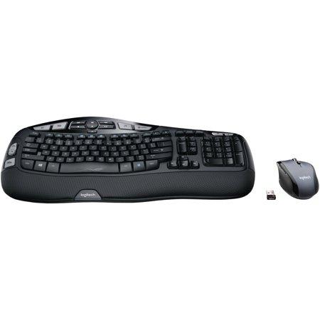 Logitech MK570 Comfort Wave Keyboard and Mouse Bundle, Black