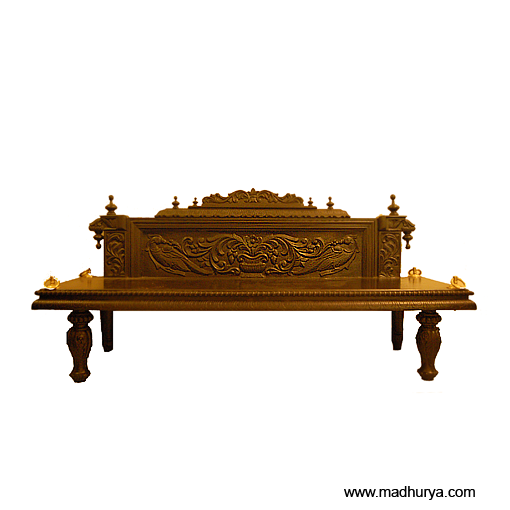 Teak Wood Swing With Royally Carved Back Rest. A Furniture For Your Living  Space.