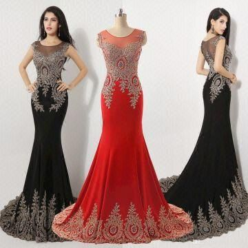 2015 ladies long evening party wear gown latest design formal ...