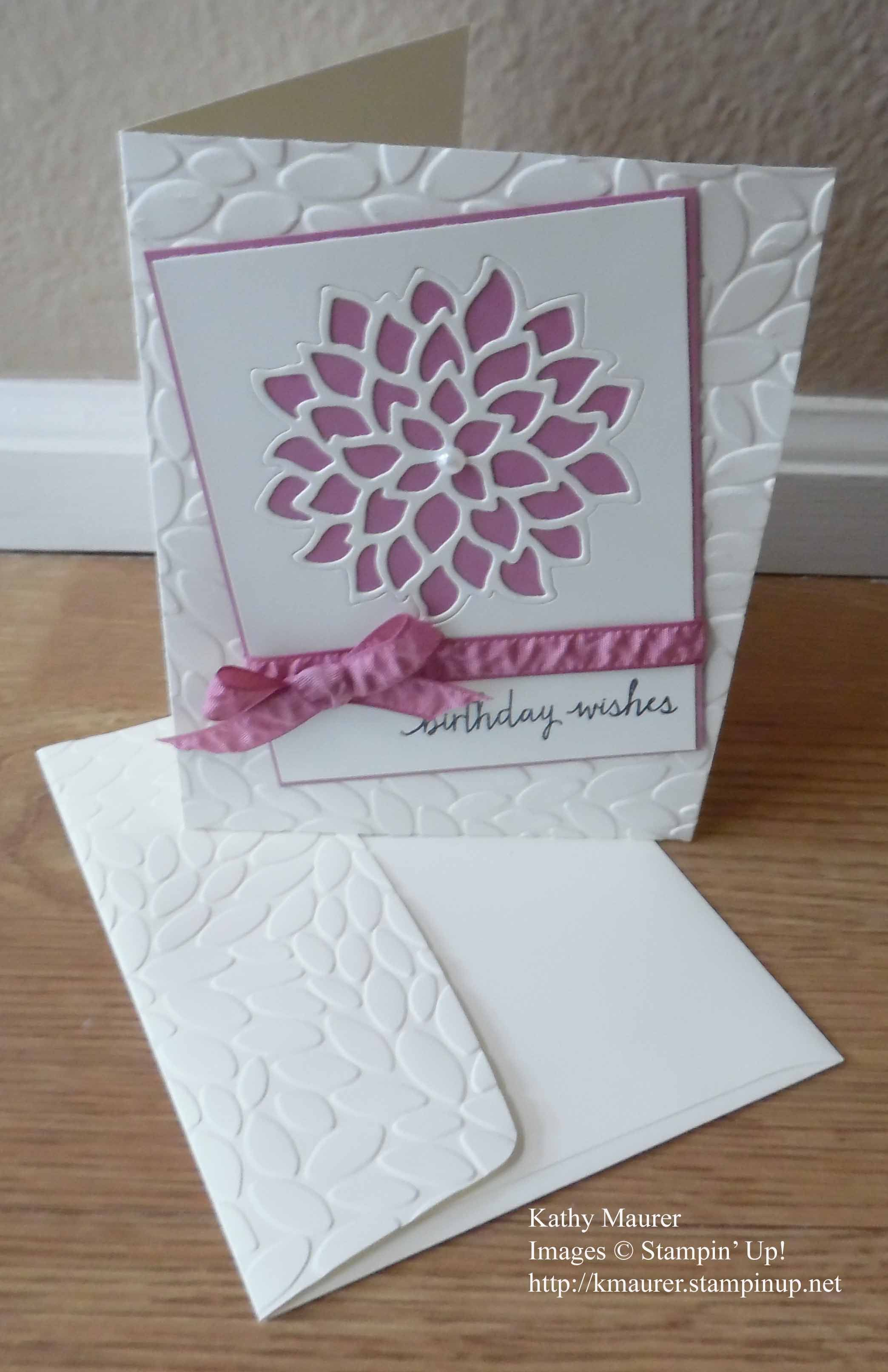 Stampin/'Up New Regals Collection Embossed Fashionable Heart Die Cuts 50