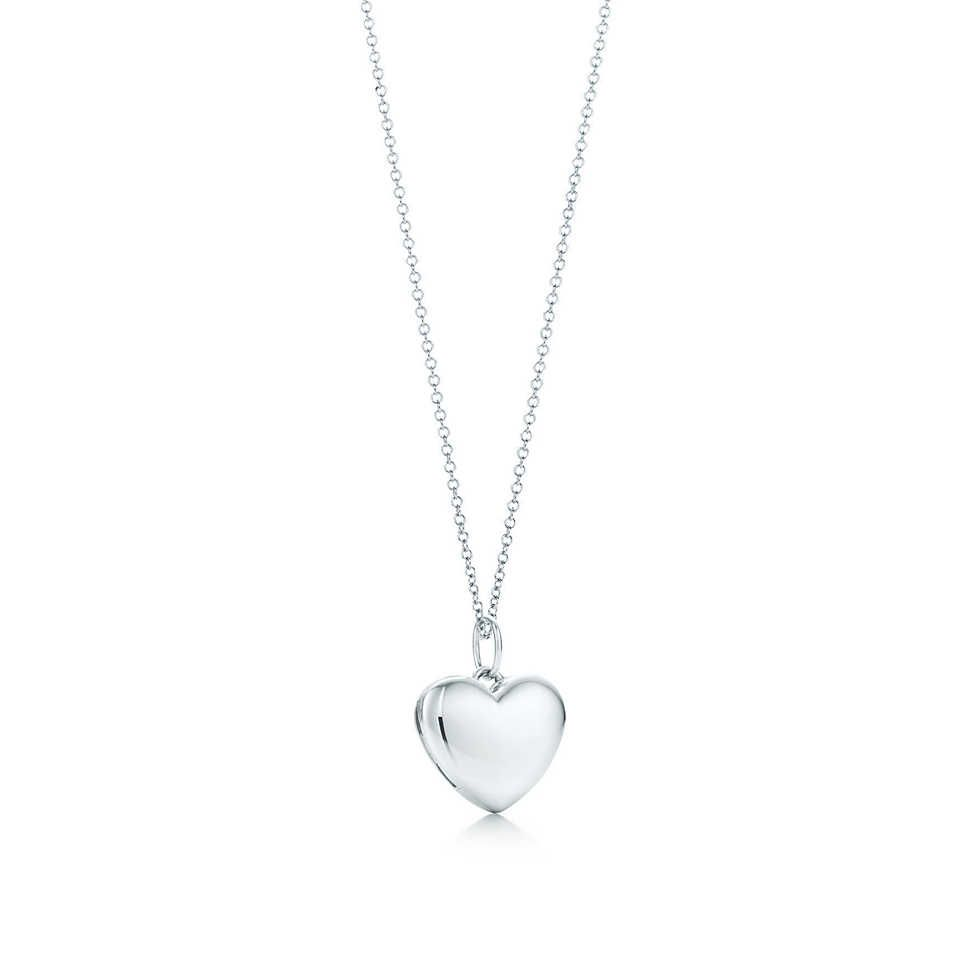 27e90bdeb Tiffany Heart locket pendant Locket in sterling silver. Size small. On a  chain. Locket and chain. $425