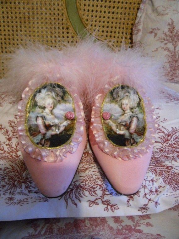 Marie Antoinette shoes by vivelareine on Etsy, $180.00