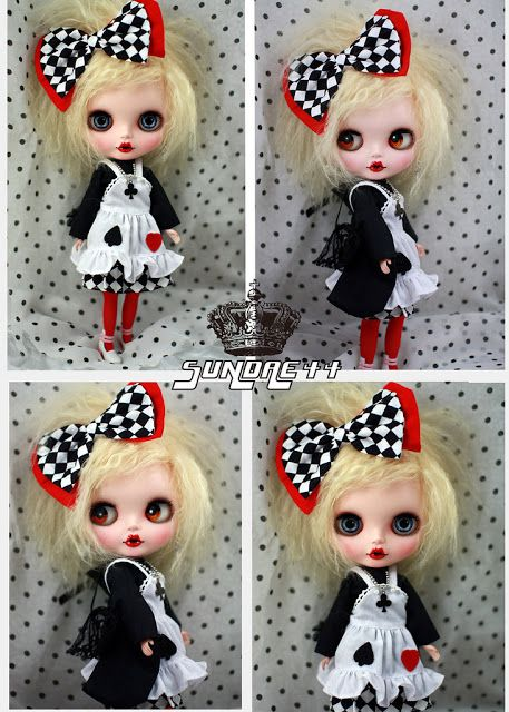 Custom Blythe Doll by Sundae44 - Mad Alice in Wonderland