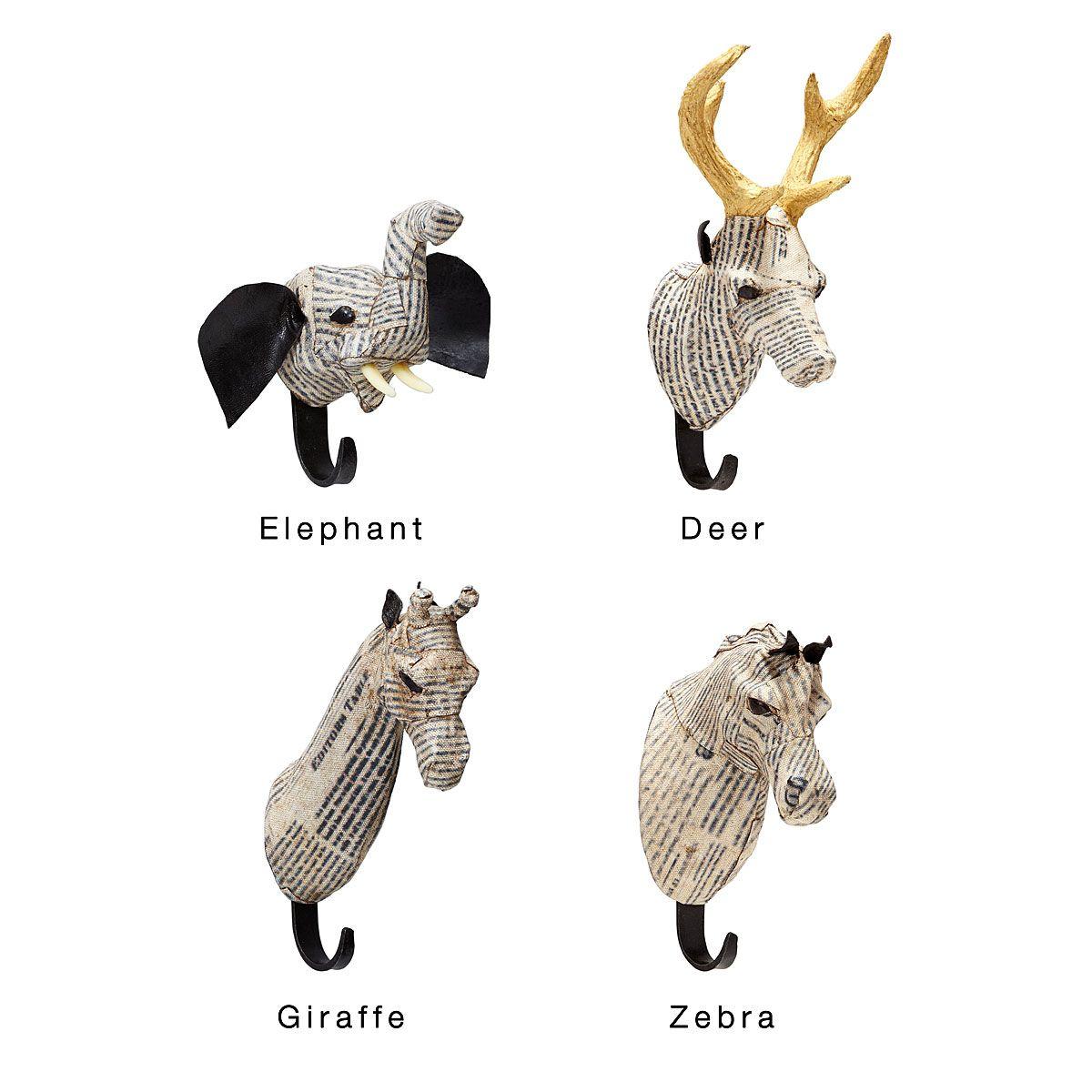 Paper Mache Animal Hooks Coat Hook Elephant Giraffe Uncommongoods Paper Mache Animals Animal Hooks Paper Mache