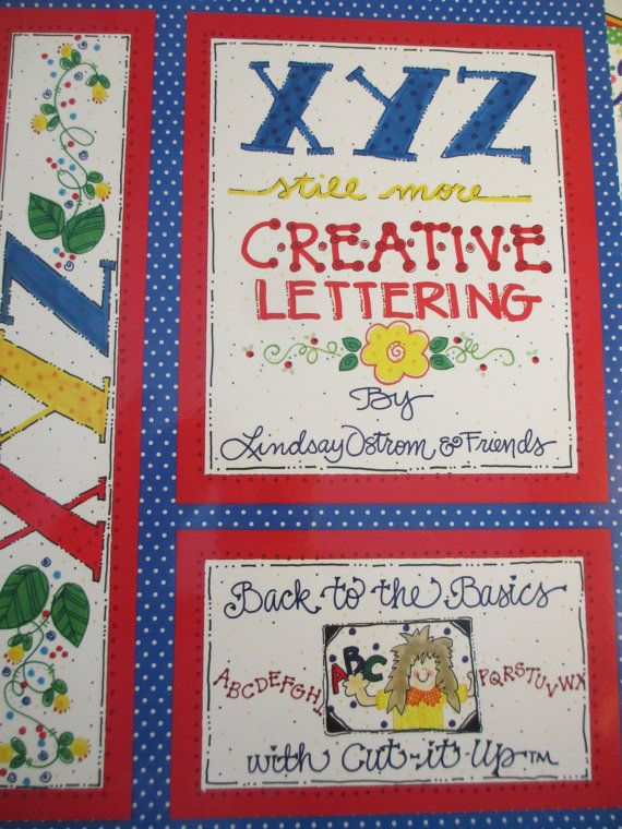 DeStash Sale Creative Lettering Set of 4 by LeapingFrogDesigns, $20.00