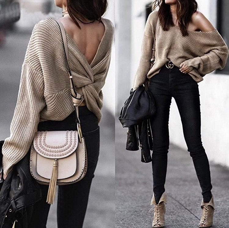 Criss Cross Backless Sweater For Fall