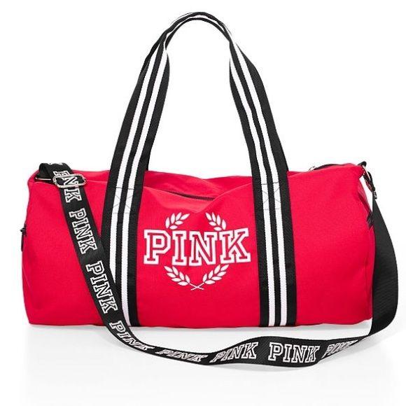 Victoria secret duffle bag BRAND NEW RES VS PINK DUFFLE BAG e8af8c8ed6a62