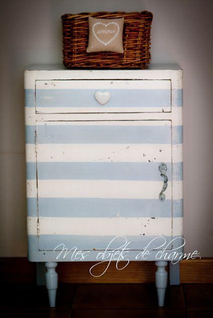 Pin di annalisa taurchini su relooking striped furniture for Arredamento artistico