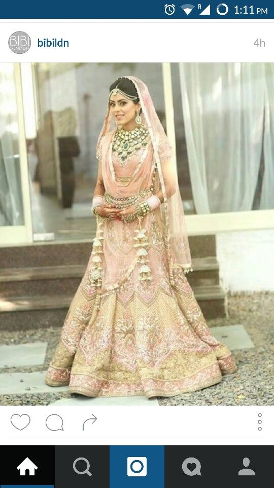 Baby pink and gold | Bridal dress Ideas |