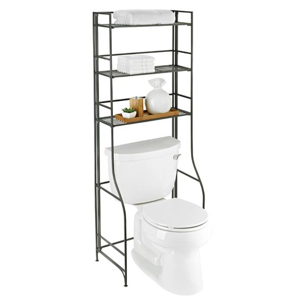 Iron Folding Bath Etagere Bathroom
