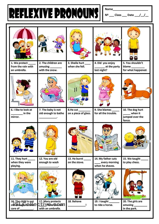 reflexive pronouns exercises with answers pdf