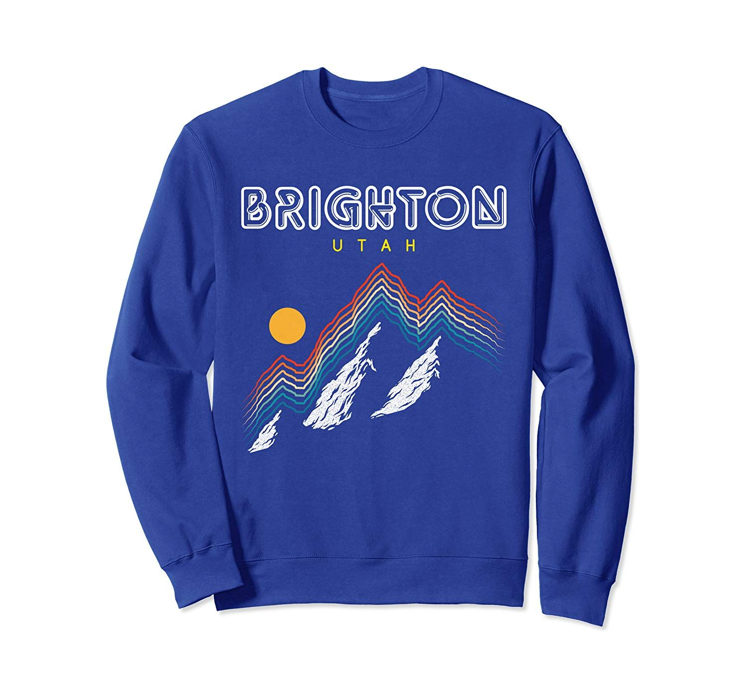Brighton, Utah - USA Ski Resort 1980s Retro Sweatshirt #utahusa