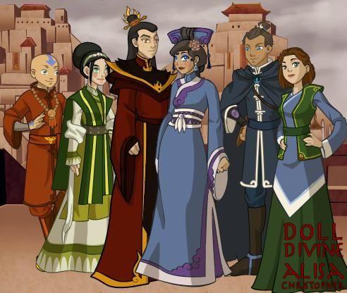 zutara wedding - Google Search   Fan Art   Avatar aang ... Zutara Wedding