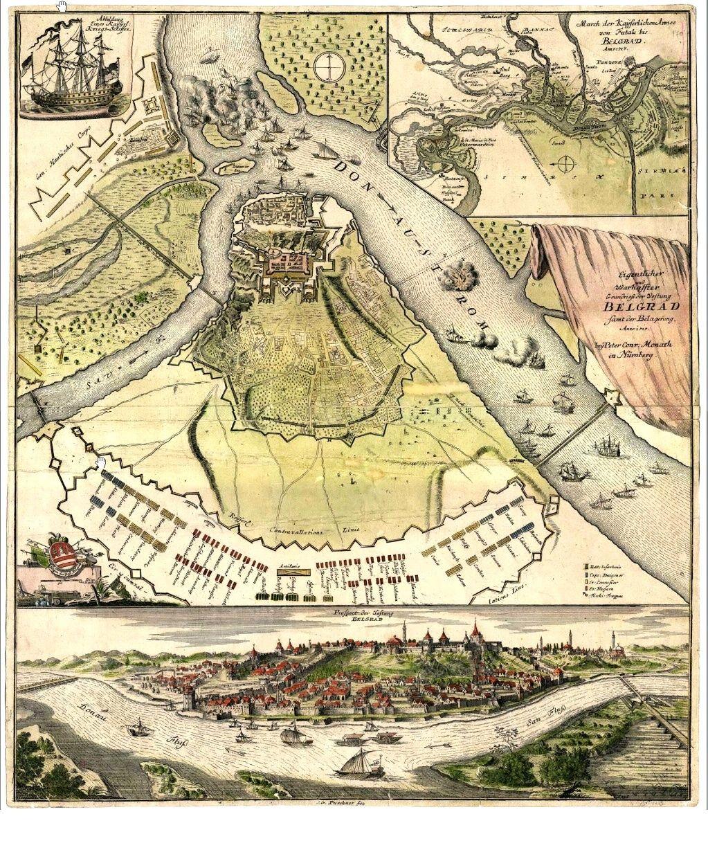 bing mapa beograda Beograd, Mapa iz 1717. | Belgrade, 1717 map | History | Pinterest  bing mapa beograda