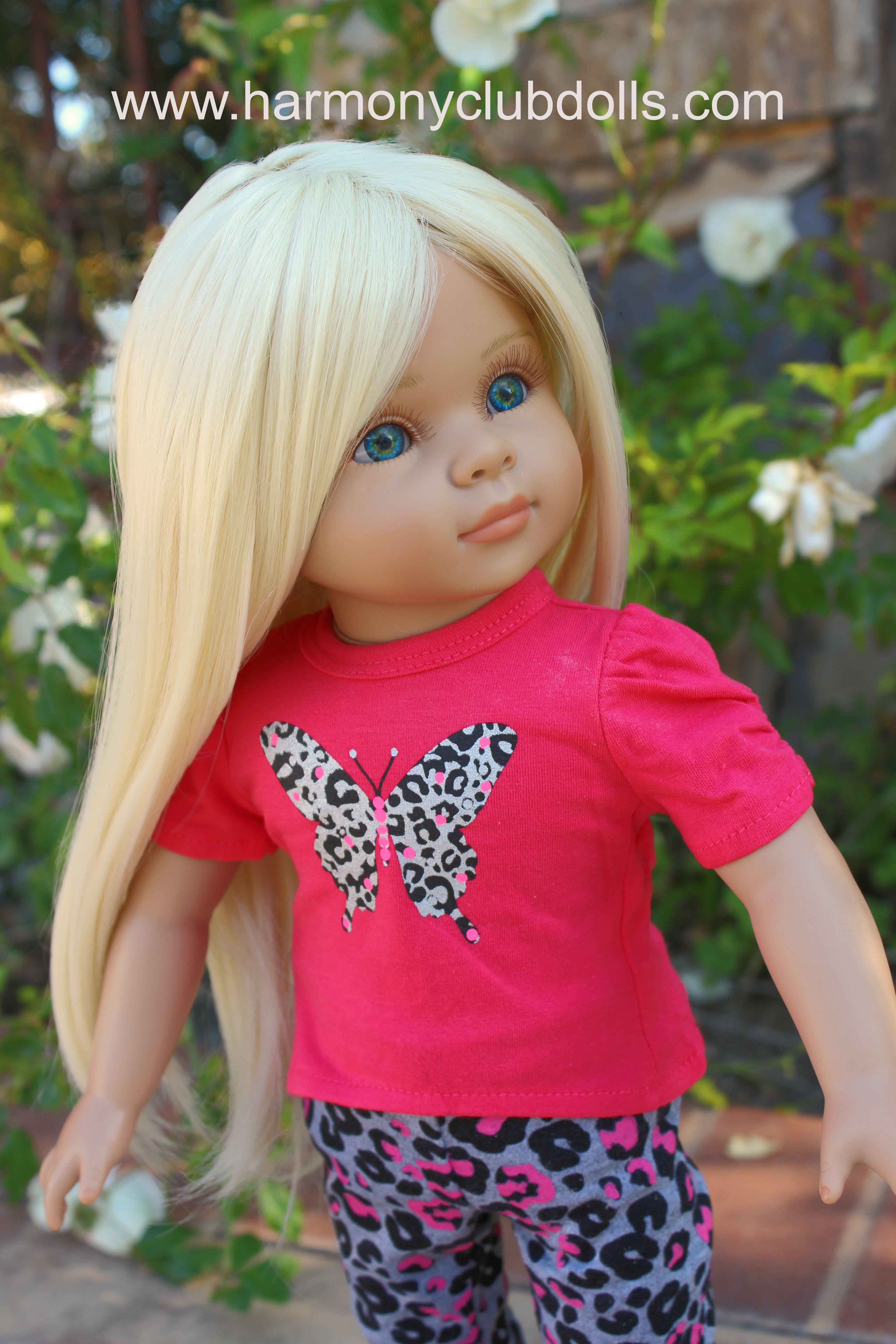"""HARMONY CLUB DOLLS 18"""" Dolls and 18"""" Doll Clothes. Fits American Girl Dolls www.harmonyclubdolls.com"""