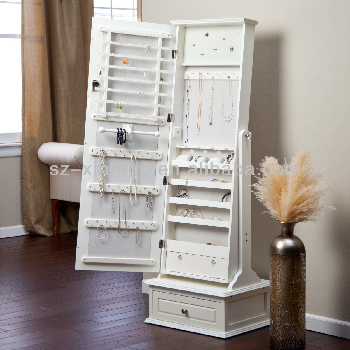 Image Of Cheval Mirror And Jewelry Armoire Jewelry Armoire Cheval Mirror Jewelry Armoire White Jewelry Armoire