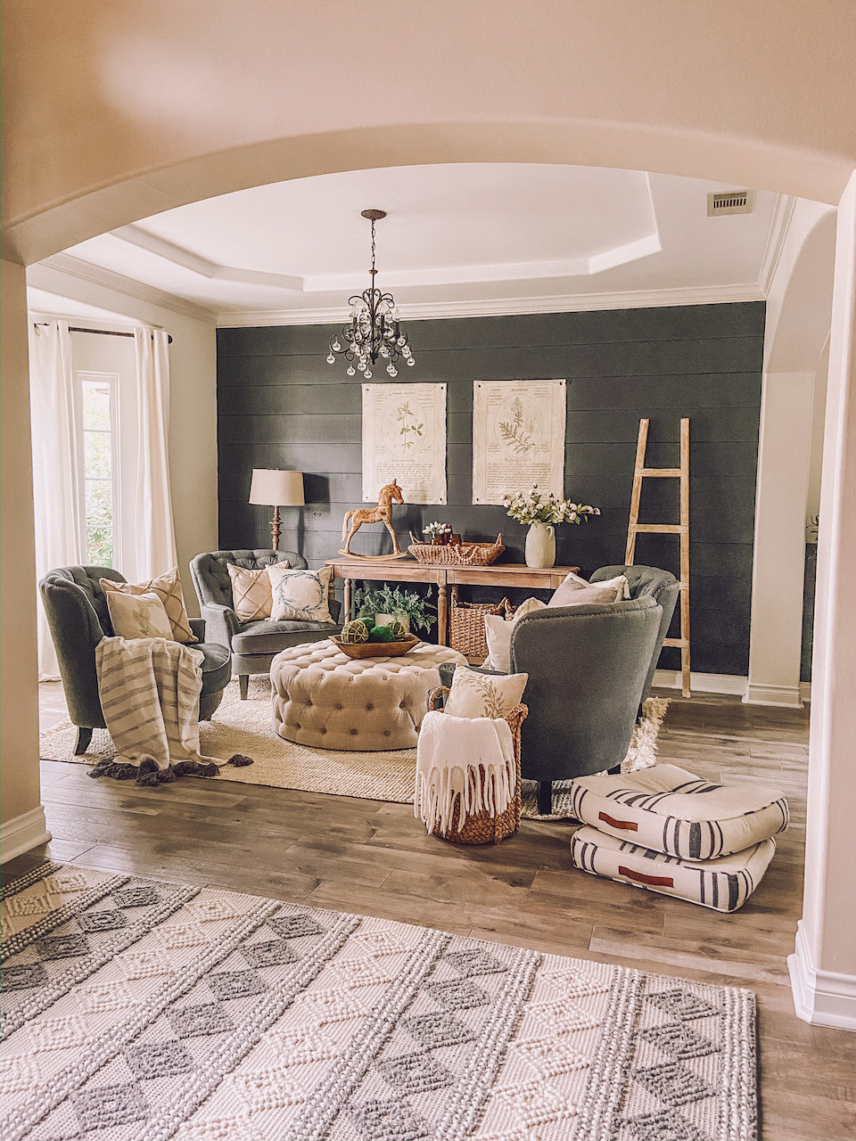 Dark Contrast Wall Sitting Room Refresh Life By Leanna Ironore Darkwall Modernfarmhouse Farmhousestyle Shiplap Feat In 2020 Sitting Room Design Home Home Decor
