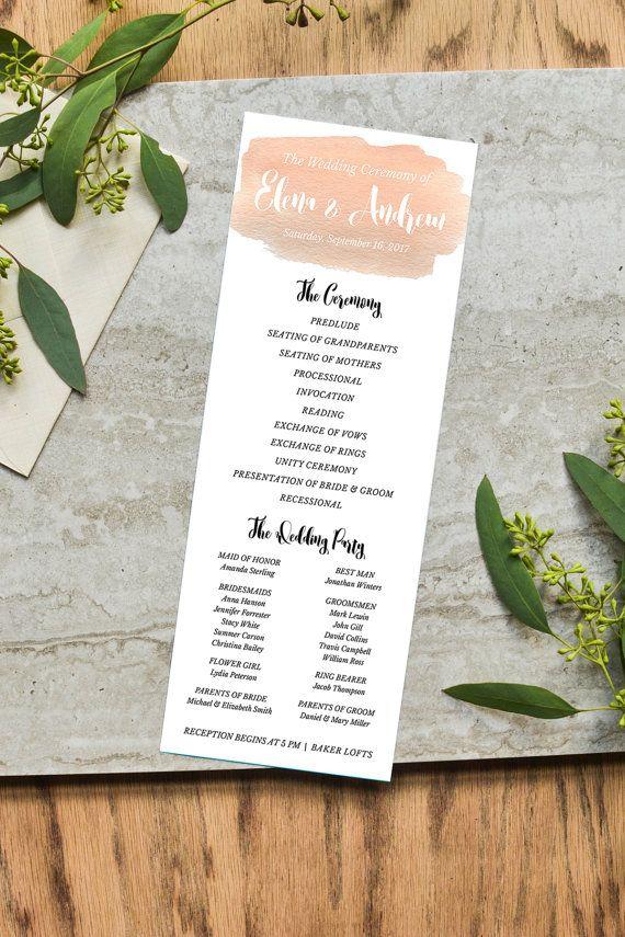 beautiful wedding programs