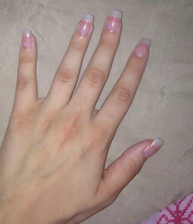 Natural Tip Acrylics Clear Acrylic Nails Cute Nail Art Designs Nails