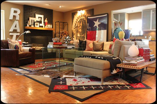 Cottage of the Month - Texas/Western themed living room ...