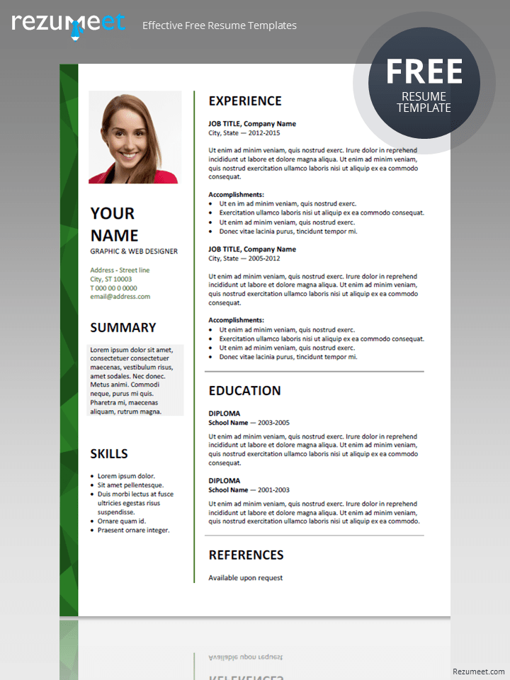 Free Resume Template With Left Border Teacher Resume Template Free Free Resume Template Word Free Resume Template Download