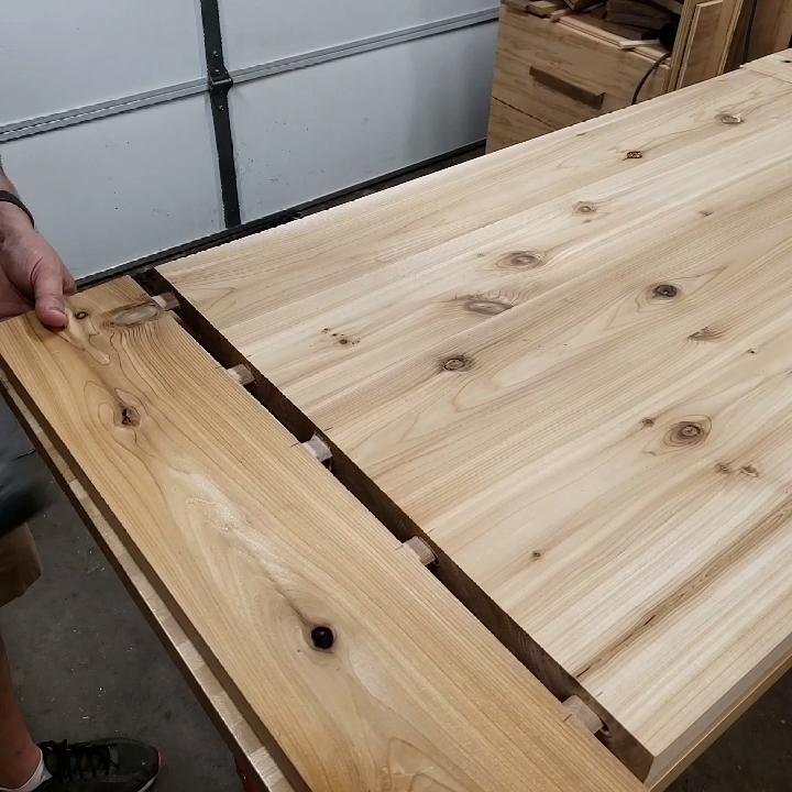 Photo of Top for an outdoor cedar coffee table