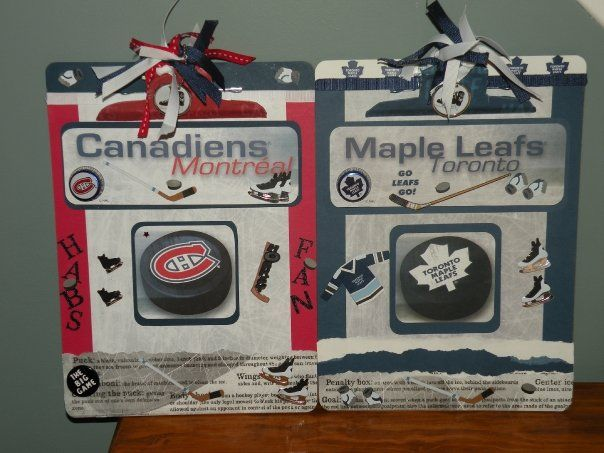 My Toronto Maple Leafs and Montreal Canadians alter clipboards ...