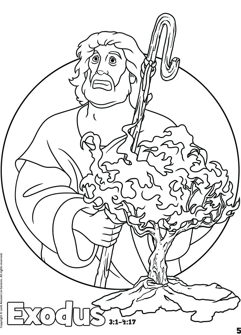 Exodus Free Bible book coloring pages in .pdf format