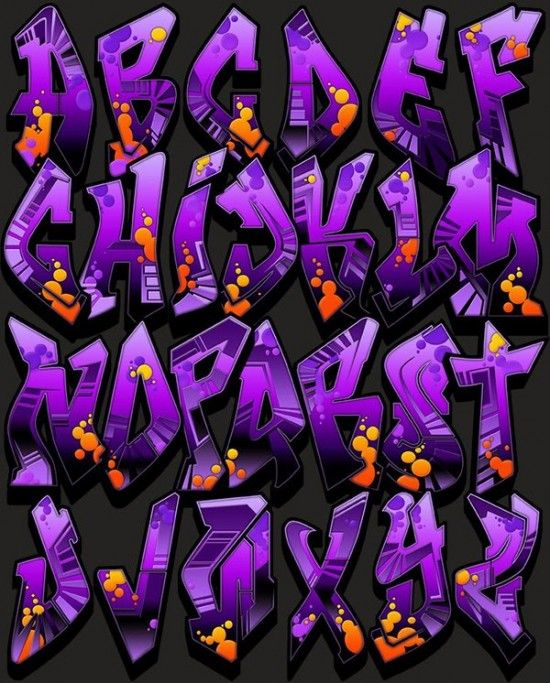 purple salmiak graffiti alphabet letters a z stylepurple salmiak letter style of graffiti alphabet design 550x683 picture