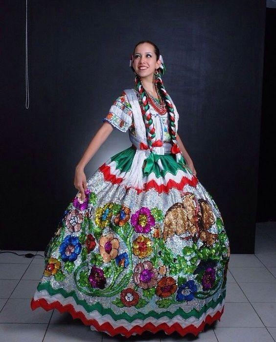 Vestido De China Poblana Vestidos Tipicos De Mexico