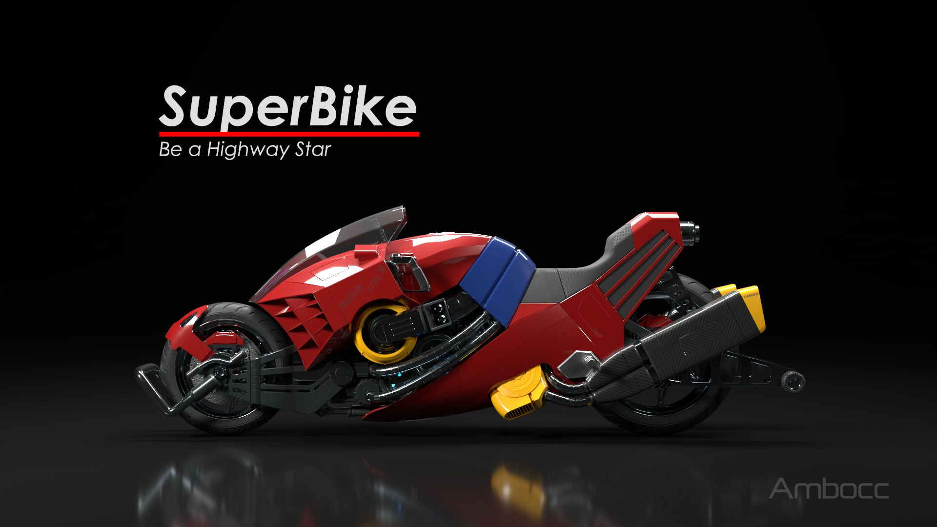 Be a highway star from bubblegum crisis motorcycle cyberpunk bubblegumcrisis superbike anime cg 3d 3dart cgart madewithmodo racing bike suzuki