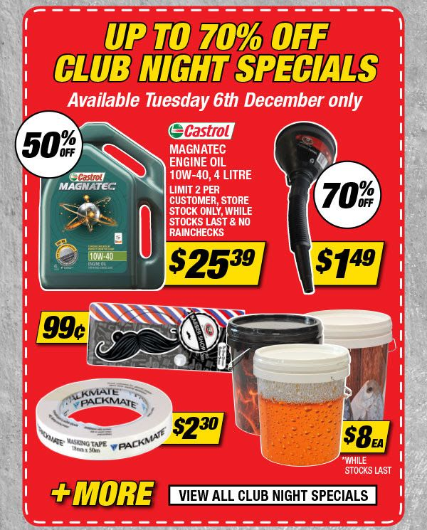 Bargain Up To 70 Off Club Night Special Super Cheap Auto Night Club Special