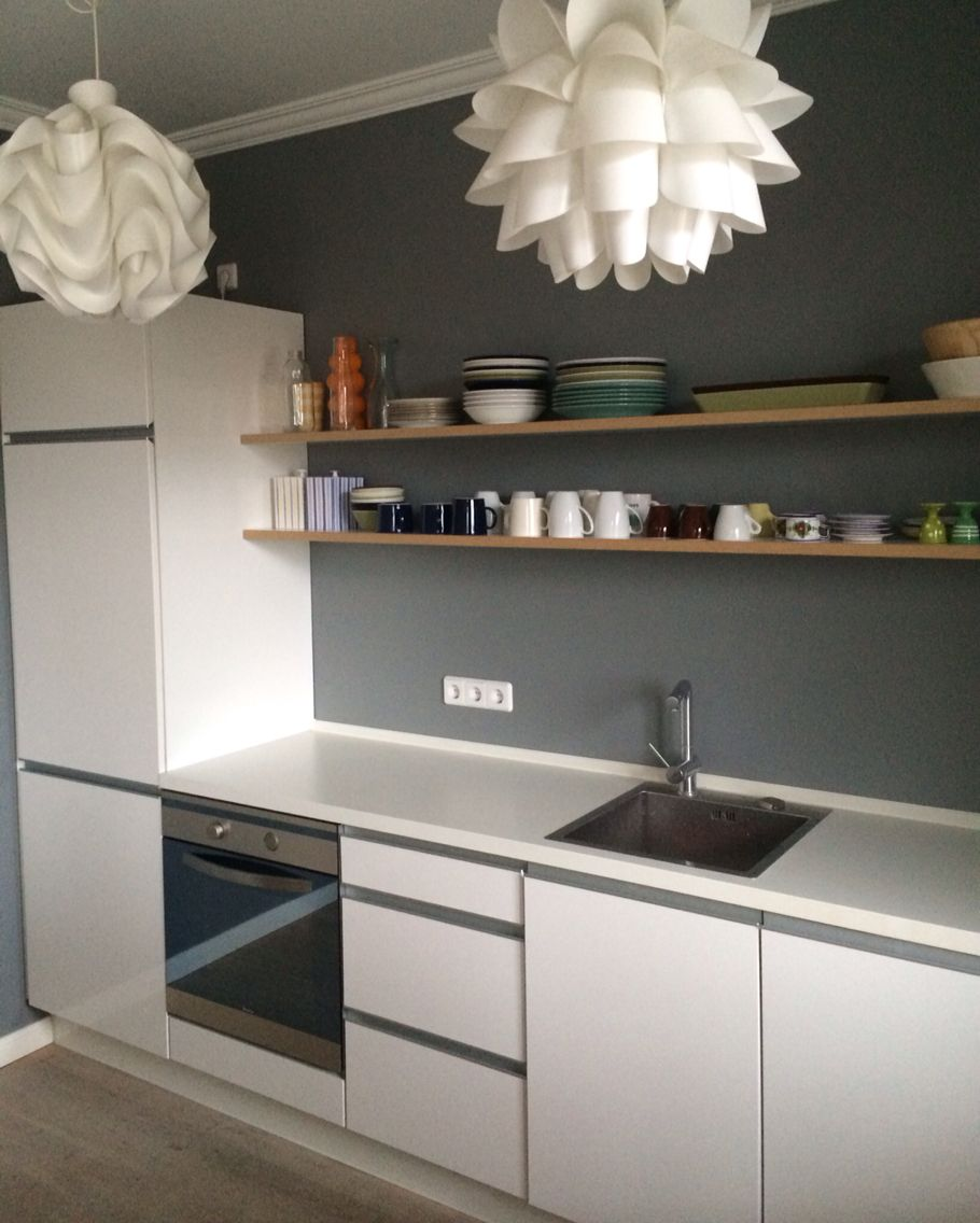Farrow & Ball Plummett #kitchen #küche #grey #grau
