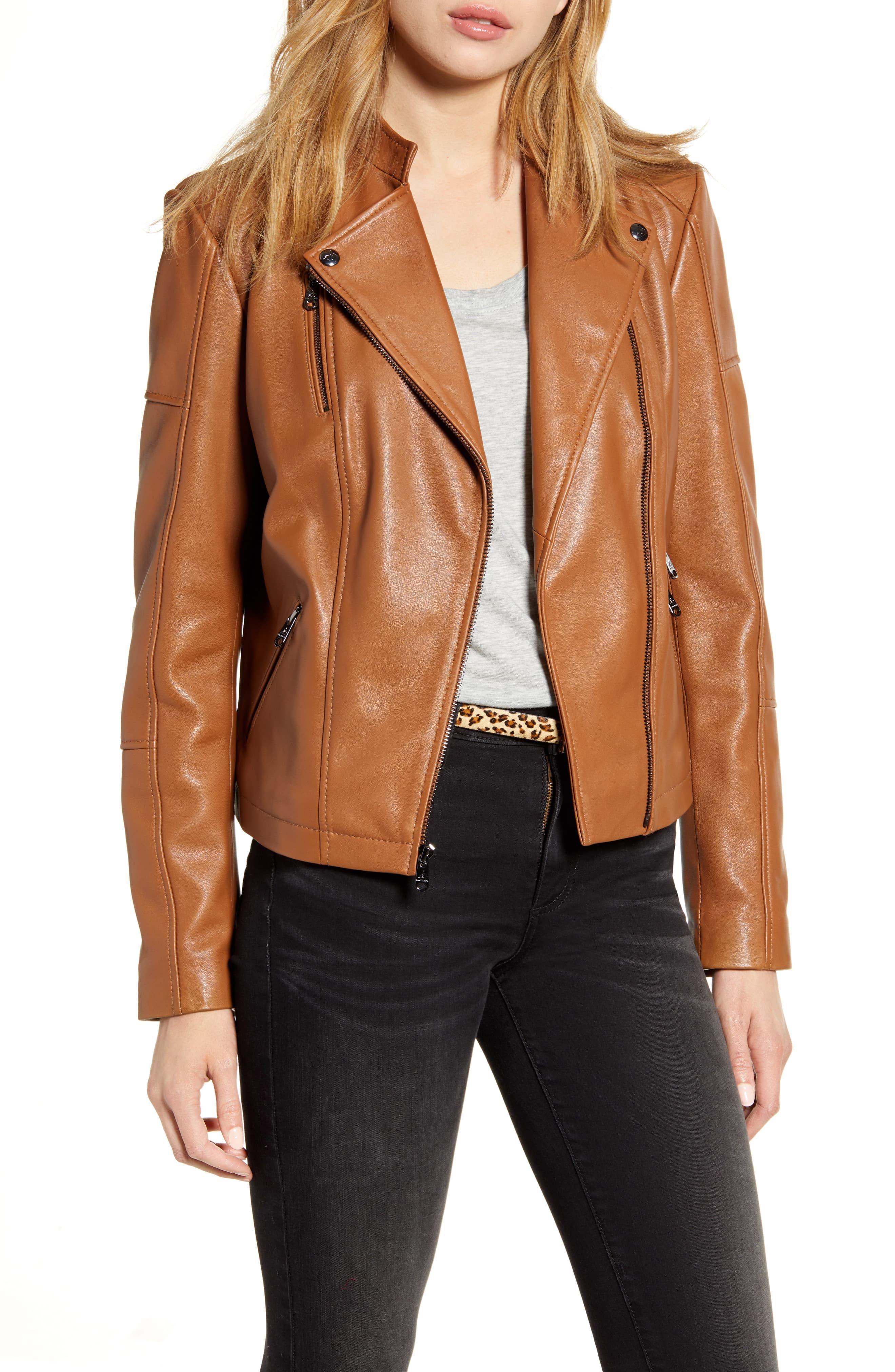 Sam Edelman Lambskin Leather Moto Jacket in 2020 Leather
