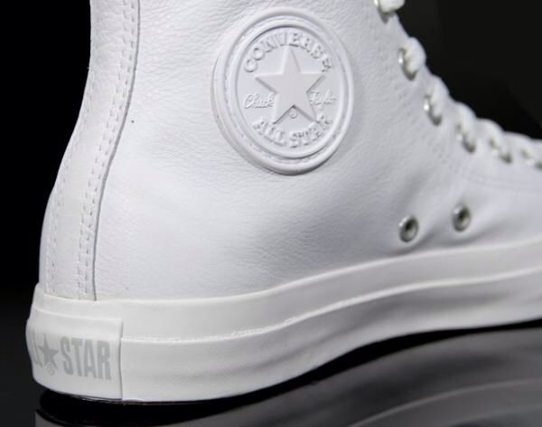 ad437d35d05 Coke whites Converse Leather High Tops