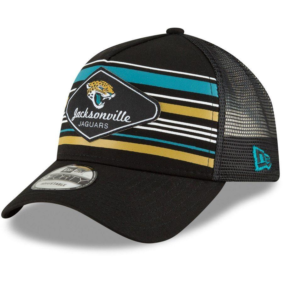 7610a23d28e30 Men s Jacksonville Jaguars New Era Black Mavericks A-Frame 9FORTY  Adjustable Snapback Hat