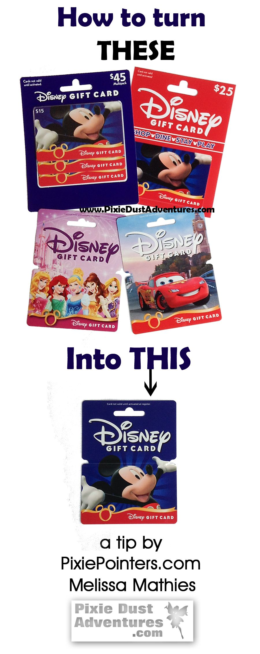 Disney Gift Cards – Register, Track and Combine all in one Place ...