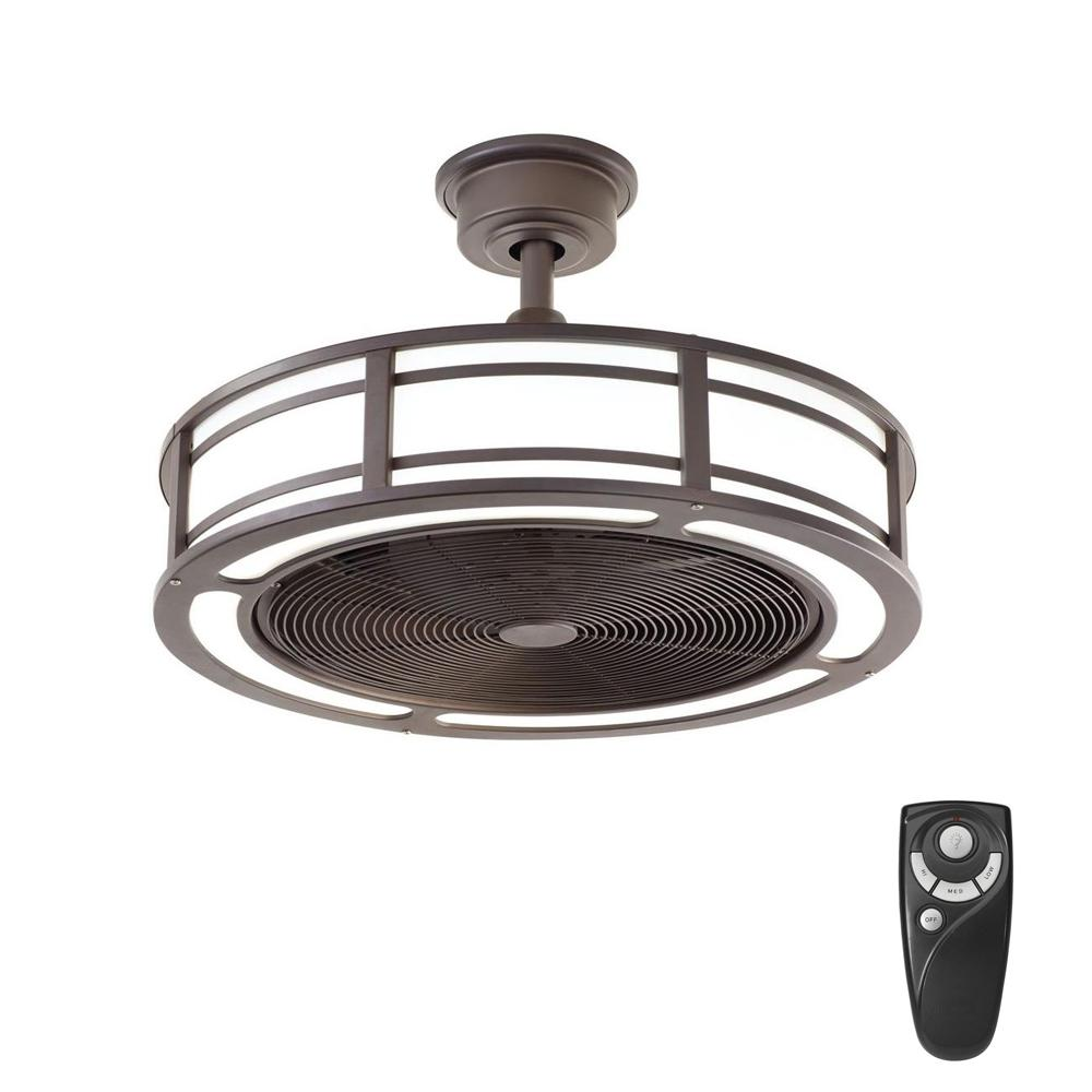 Home Decorators Collection Brette 23 In Led Indoor Outdoor Espresso Bronze Ceiling Fan With Light Kit With Remote Control Am382a Orb The Home Depot Bronze Ceiling Fan Brushed Nickel Ceiling Fan Ceiling Fan