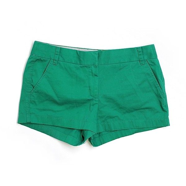 Pre-owned J. Crew Khaki Shorts Size 10: Green Women's Bottoms ($17) ❤ liked on Polyvore featuring shorts, green, khaki shorts, green shorts and j. crew shorts