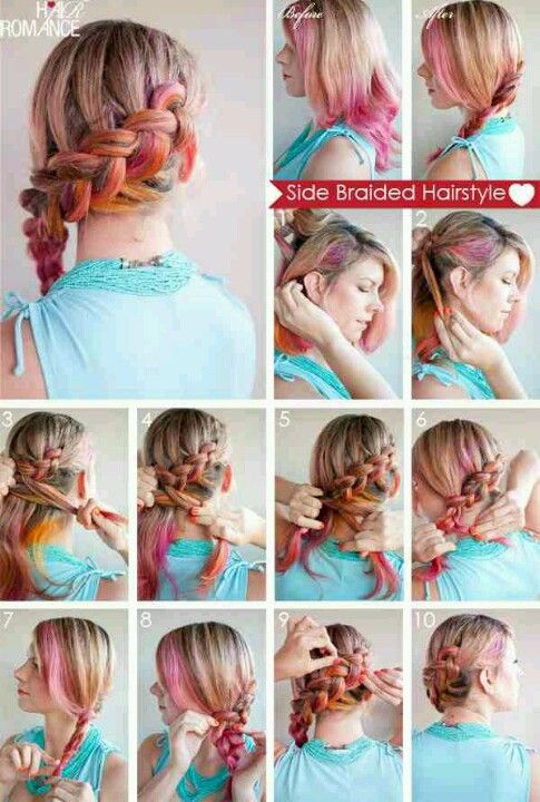 Cute and colorful haistyle tutorial !