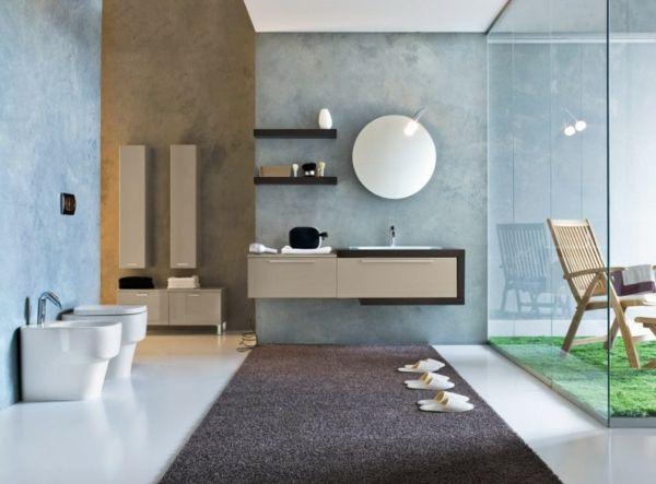 Teppich Badezimmer ~ Luxuriösiches badezimmer mit einem brauen teppich modernes bad