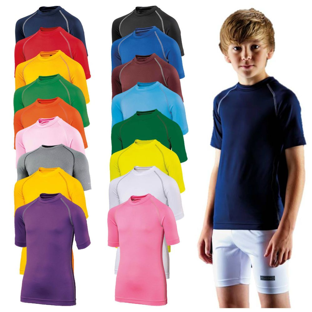 Childrens Base Layer Short Sleeve Compression Top Thermal Sport Boys Kids  Junior | Kids boys, Sports boys, Childrens clothes