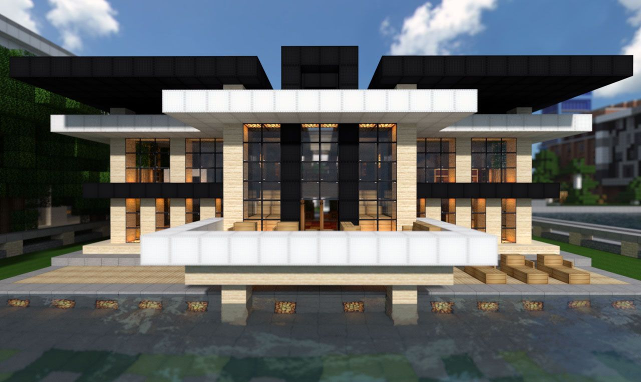 Blueprints  Modern Mountain House Minecraft Project Minecraft Blueprints Building Design Ideas