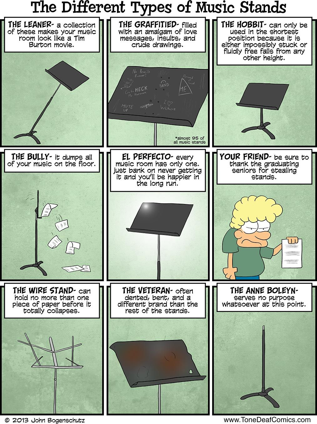 Different Kinds of Music Stands - And I\'m back in my high school ...
