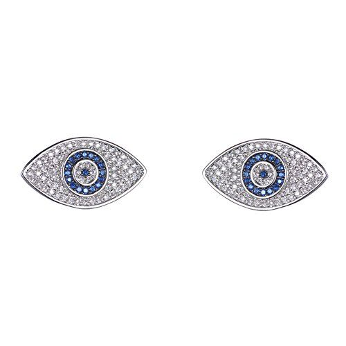 ec0a04574 KIVN Fashion jewelry Spiritual Evil eye CZ Cubic Zirconia Earrings for  Women Sapphire >>> Want additional info? Click on the image.