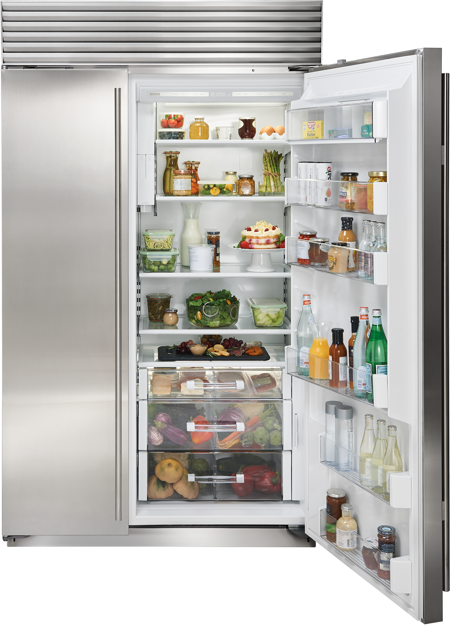 48 Classic Side By Side Refrigerator Freezer With Internal Dispenser With Images Refrigerator Freezer Side By Side Refrigerator Custom Refrigerator