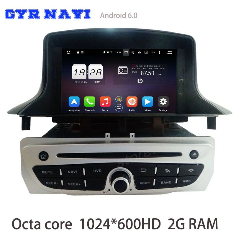 octa core android 6.0 car dvd radio for renault megane 3 iii fluence